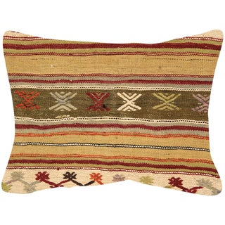 "Nalbandian - 1960s Turkish Kilim Pillow - 18""x 24"" For Sale"
