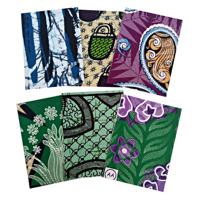 African Wax Fabric Greeting Cards - Set of 10 - Image 1 of 6