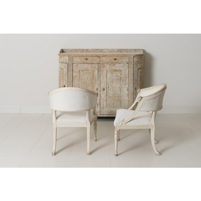 Gustavian (Swedish) Swedish Gustavian Barrel Back Armchairs With Lions' Heads - a Pair For Sale - Image 3 of 11