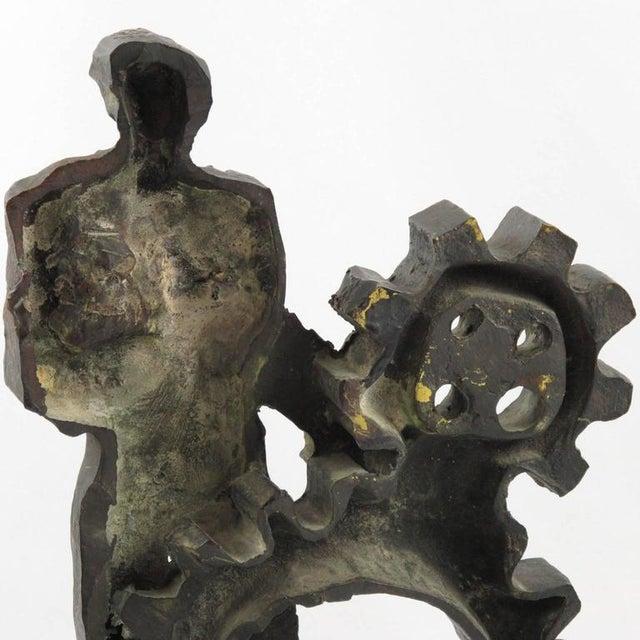 Mid-Century Modernist Brutalist Bronze Sculpture For Sale - Image 10 of 11