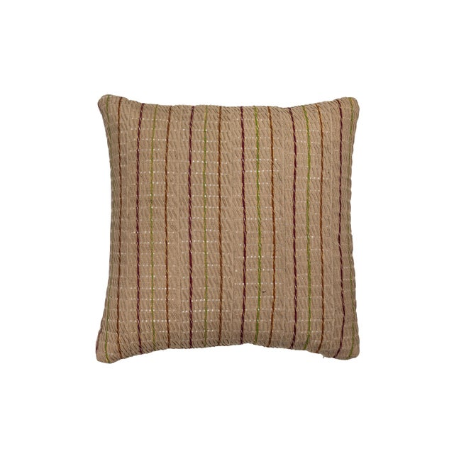 Silk Vintage African Ashante Textile Pillow For Sale - Image 7 of 7