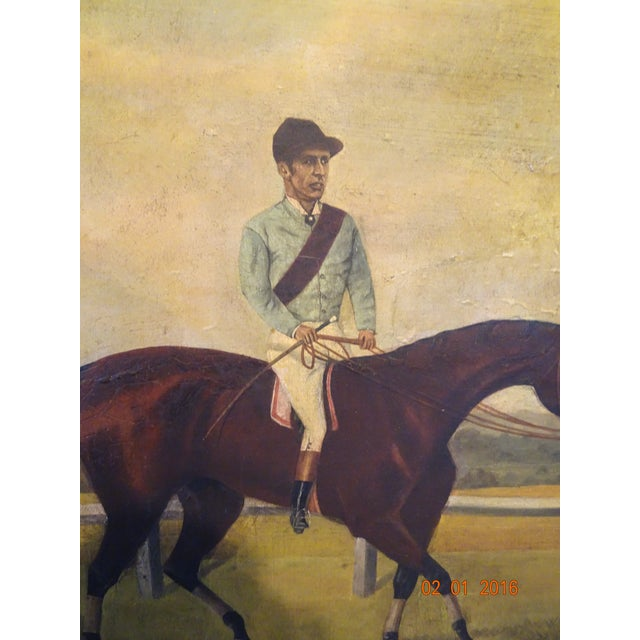 Jockey on Race Horse Painting For Sale - Image 4 of 11