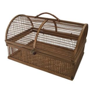 Hinged Bamboo Basket