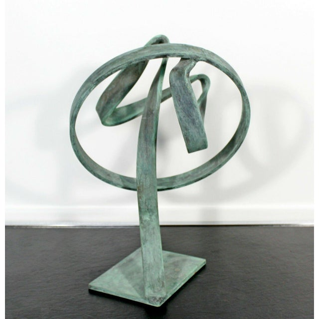 Contemporary Forged Painted Copper Abstract Table Sculpture by Robert Hansen For Sale In Detroit - Image 6 of 6