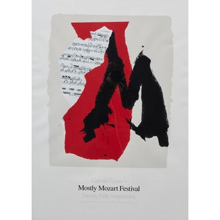 Late 20th Century Robert Motherwell Lincoln Center's Mostly Mozart Festival Print Preview