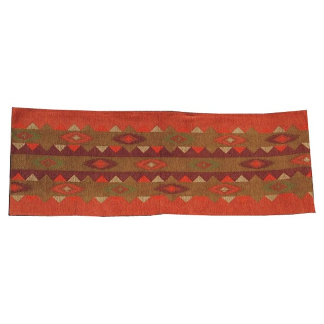 Intricately handwoven jacquard table runner with six matching placemats, a fine Southwest design with fall theme colors....