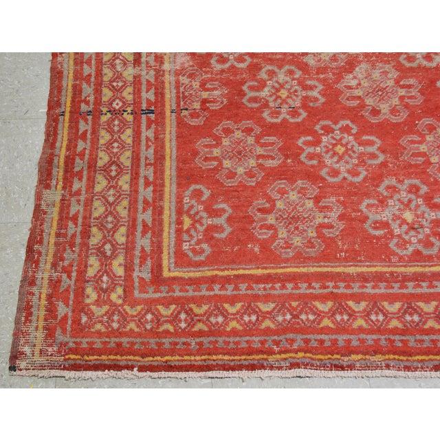 """Antique Khotan Rug,6'6""""x10'2"""" For Sale - Image 4 of 6"""