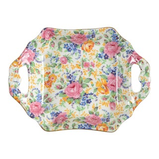 James Kent Rosalynde Chintz Handled Tray For Sale