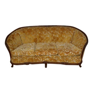1930s Vintage Rounded Sofa For Sale