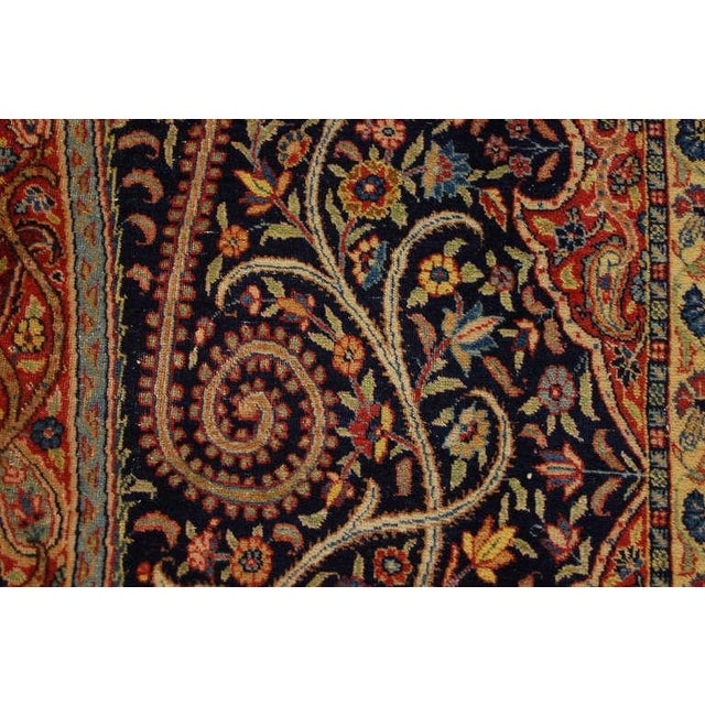 """Antique """"Bird-Of-Paradise"""" Persian Tabriz Rug - 6′3″ × 8′10″ For Sale In Chicago - Image 6 of 6"""