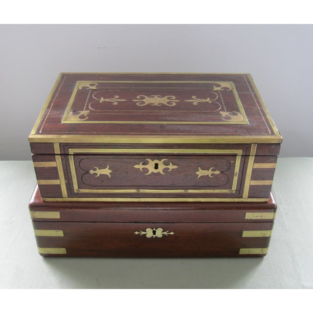 19th Century English Traditional Flaming Mahogany Document Box For Sale In Miami - Image 6 of 6