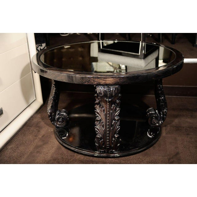 Exceptional 1940s Occasional Table with Carved Plumes by Grosfeld House For Sale In New York - Image 6 of 7