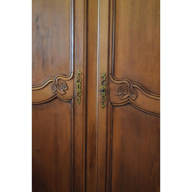 19th-Century French Chestnut Armoire For Sale - Image 6 of 8