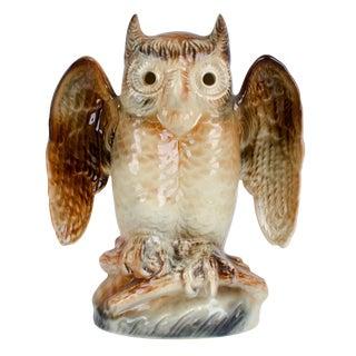 1950s Mid-Century Modern Howard Kron Ceramic Owl Lamp For Sale