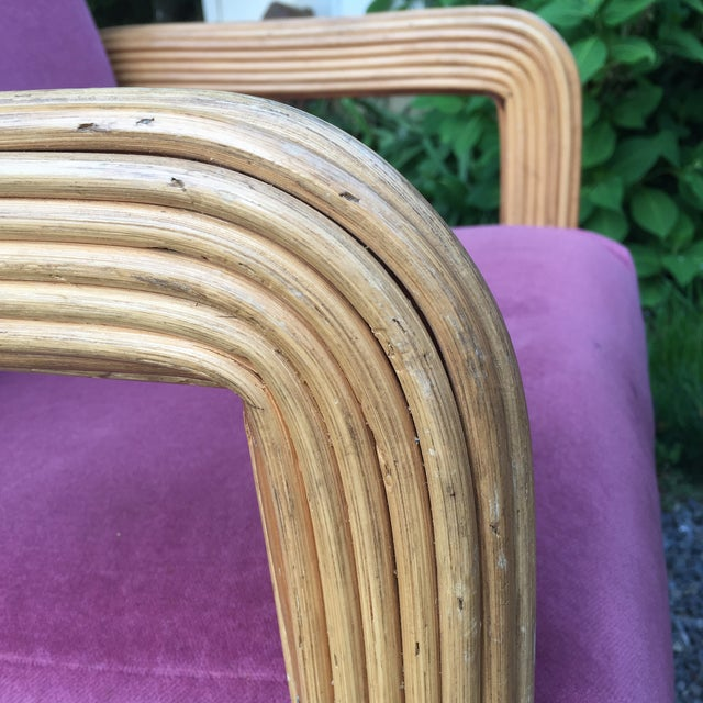 Wood Gabriella Crespi Style Pencil Reeded Velvet Chairs - a Pair For Sale - Image 7 of 13