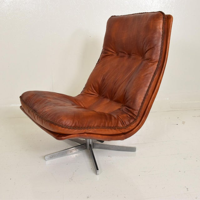 Metal Mid Century Modern Pair of James Bond Arm Chairs by De Sede, Model S 231 For Sale - Image 7 of 11