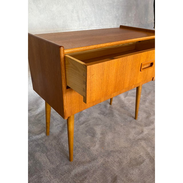 1960s Vintage Scandinavian Mid Century Teak Lowboy For Sale - Image 4 of 9