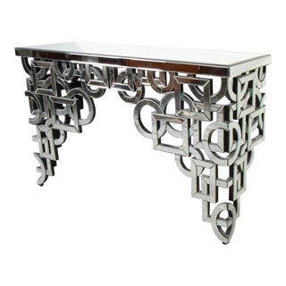 Art Deco Mirrored Console Table For Sale