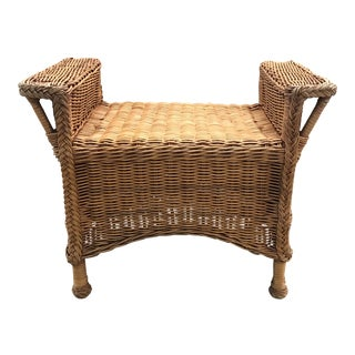 Wicker Bench For Sale