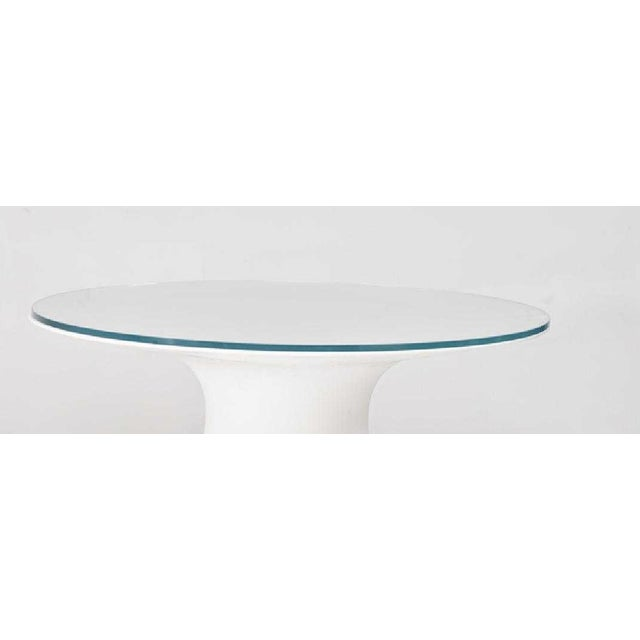 Beautiful indoor / outdoor dining table from Artefacto, Brazil. Made with a Fiberglass frame with optional glass top....