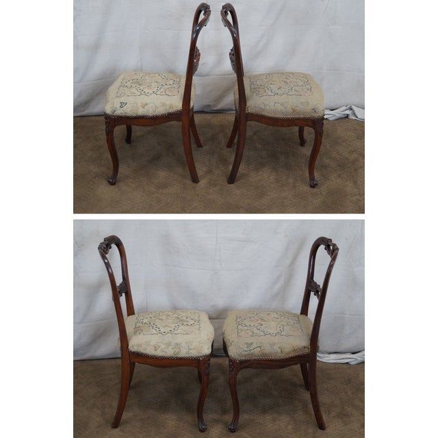 Victorian Rosewood Side Chairs- Set of 4 - Image 3 of 10