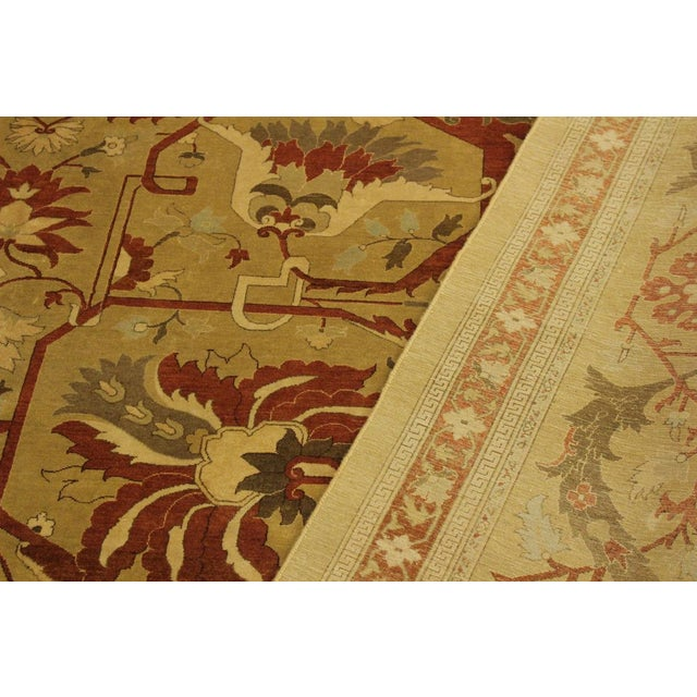 Textile 1950's Persian Karri Rust Hand-Knotted Rug -10'0 X 13'8 For Sale - Image 7 of 9