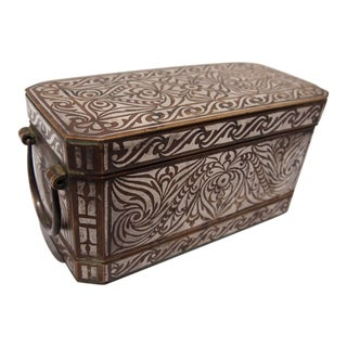 Inlaid Silver Bronze Betel Nut Box