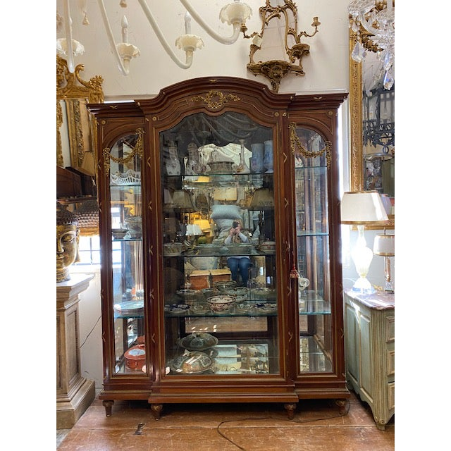 Up for sale is a Very Fine 19th century French Bronze Walnut and Bronze Vitrine