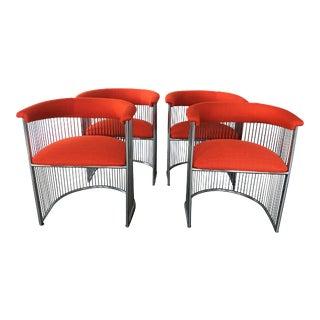 Vintage Modern Warren Platner Style Dining Chairs - Set of 4 For Sale