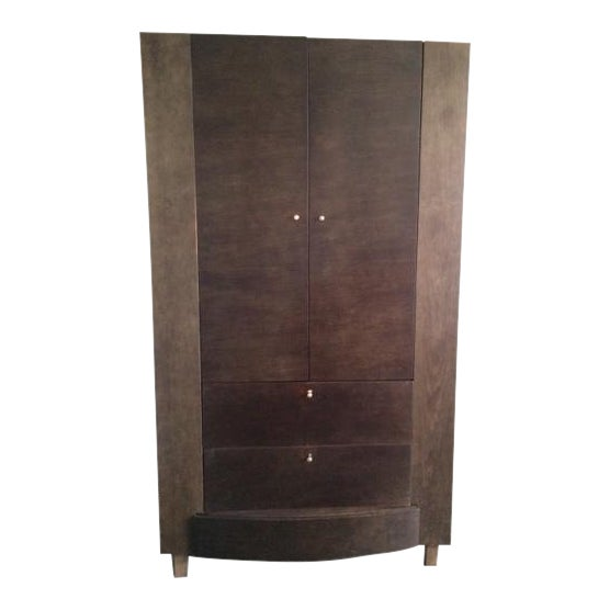 Contemporary Solid Wood Armoire - Image 1 of 4