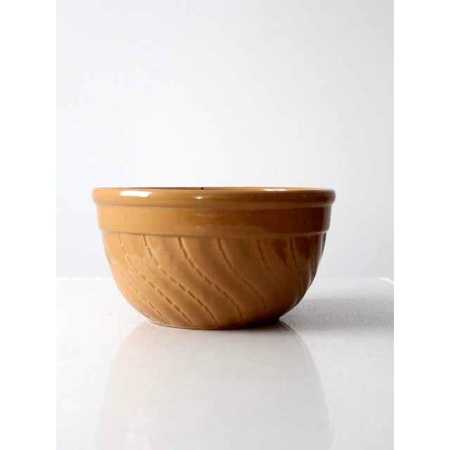 Early 20th Century Vintage Yellow Ware Bowl For Sale - Image 5 of 8