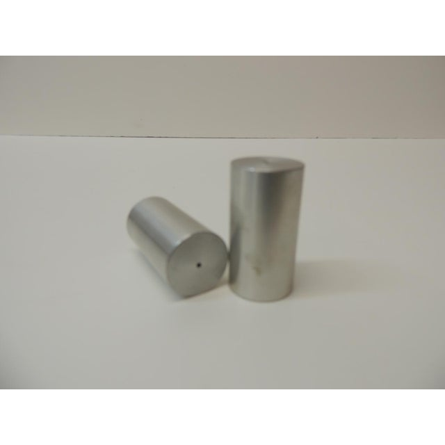 Late 20th Century Tubular Chrome Round Salt and Pepper Shakers For Sale - Image 4 of 6
