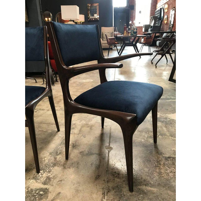 Carlo de Carli Chairs Set of Eight Including Two Chairs with Armrest 1951 For Sale - Image 5 of 7