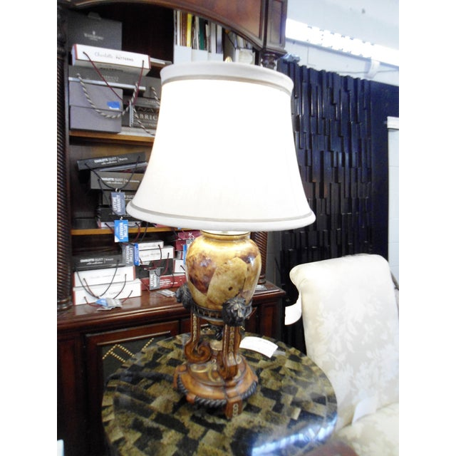 This is a beautiful classic Maitland Smith table lamp that is in perfect condition. Everything about the lamp is...