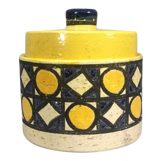 Raymor Bitossi Pottery Round Container