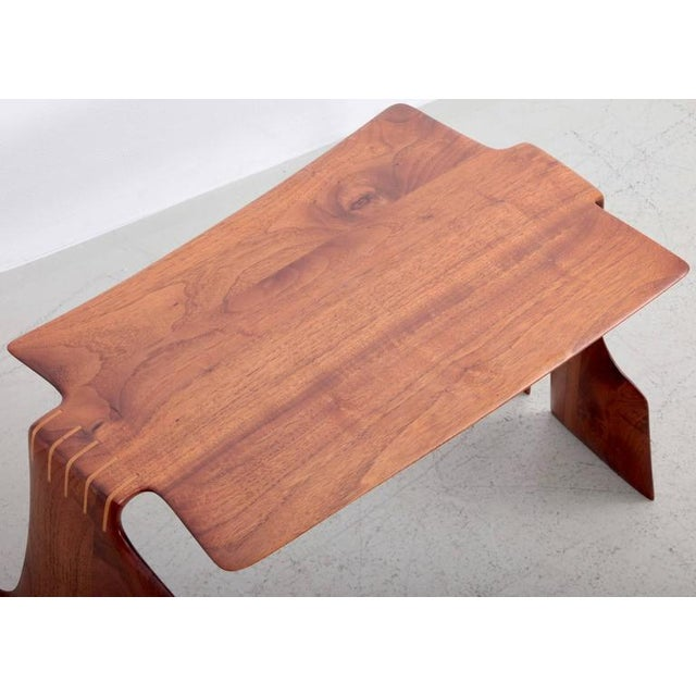 Robert A. Schultz Studio Side Table in Solid Walnut For Sale - Image 6 of 8
