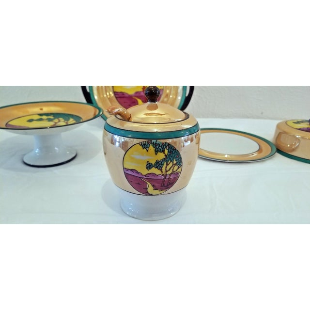 Vintage Noritake Deco 4 Piece Set For Sale - Image 12 of 13