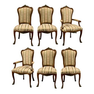 French Louis XV-Style Side Chairs - Set of 6 For Sale