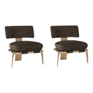 Modern Caracole Airflow Chairs- a Pair For Sale