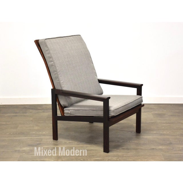Illum Wikkelso Rosewood High Back Lounge Chair For Sale - Image 13 of 13