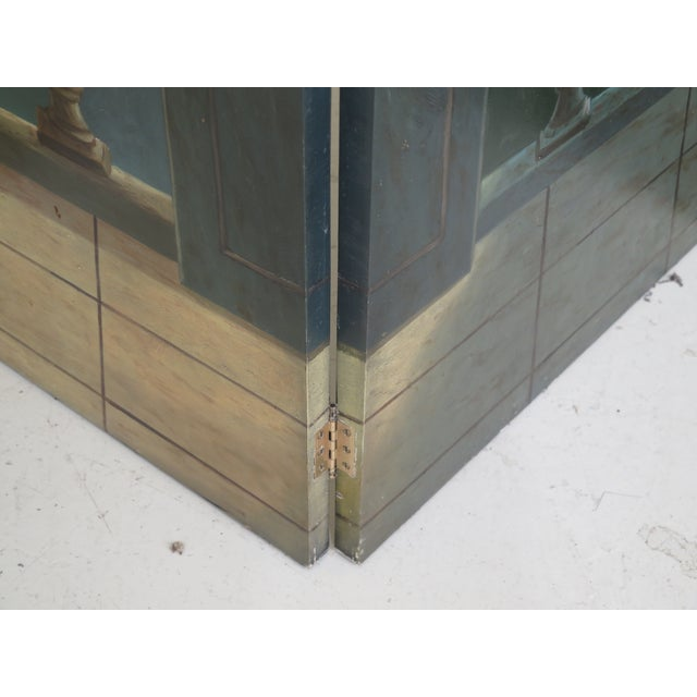 Nautical Maitland Smith Large 4 Panel Nautical Room Divider For Sale - Image 3 of 13