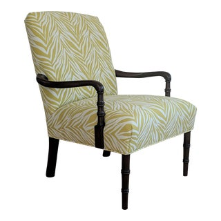 Vintage Animal Print Faux Bamboo Armchair - by Harden Furniture Co. For Sale