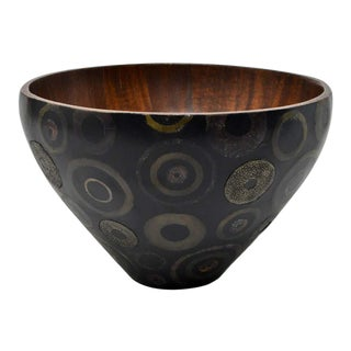 R & Y Augousti French Modern Marquetry & Shagreen Bowl For Sale