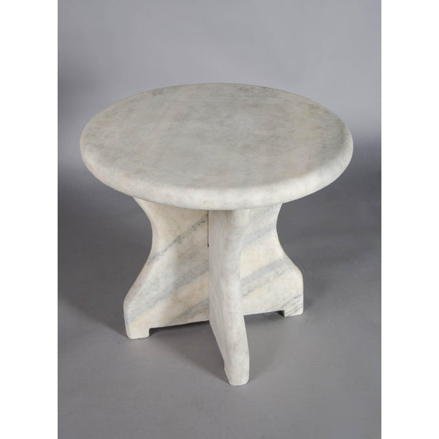 Contemporary Mallet Design Table - Han Bai Yu (White Marble) For Sale - Image 3 of 5