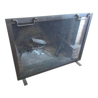 Restoration Hardware Classic Fireplace Screen For Sale