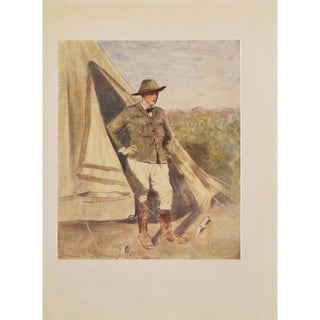 1901 Young Winston Churchill by Mortimer Menpes, Original Lithograph For Sale