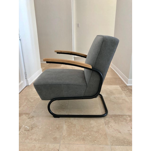 KEM Weber Mid Century Modern Kem Weber Style Springer Accent Chairs- A Pair For Sale - Image 4 of 7