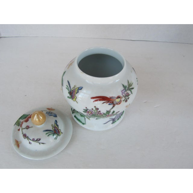 Asian Vintage Chinoiserie Flower Ginger Jar For Sale - Image 3 of 4