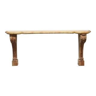 20th Century Carved Marble Console Table For Sale