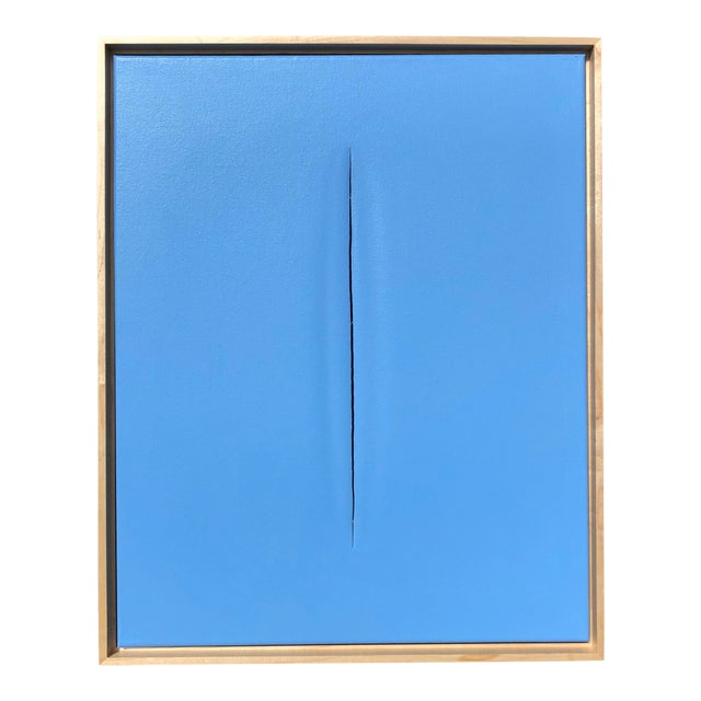 Abstract Unique Blue Modern Painting by Tony Curry For Sale - Image 3 of 3